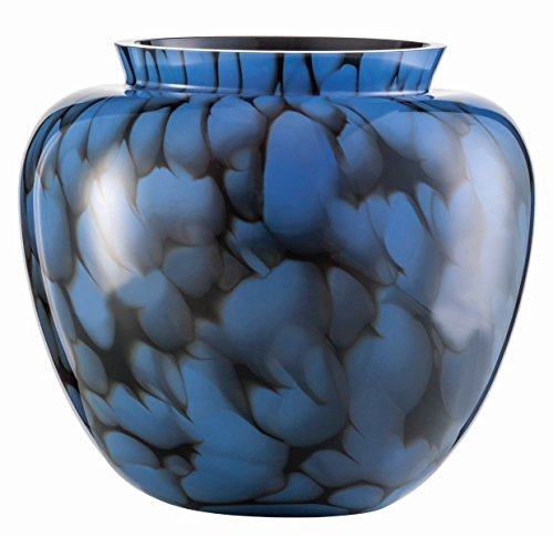Zwiesel 1872 Vase, Glas, blau, 25.2 x 25.2 x 22 cm
