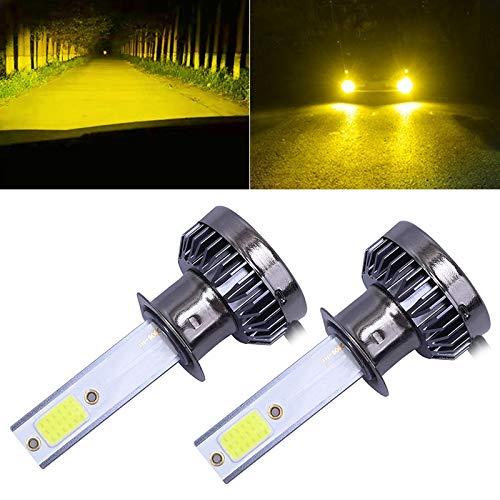 H1 LED Bombilla de Faros, 2-Pack H1 DC9-36V / 36W / 8000K / 6000LM IP68 Coche/Motocicleta Mini luz LED (Color : Gold Light)