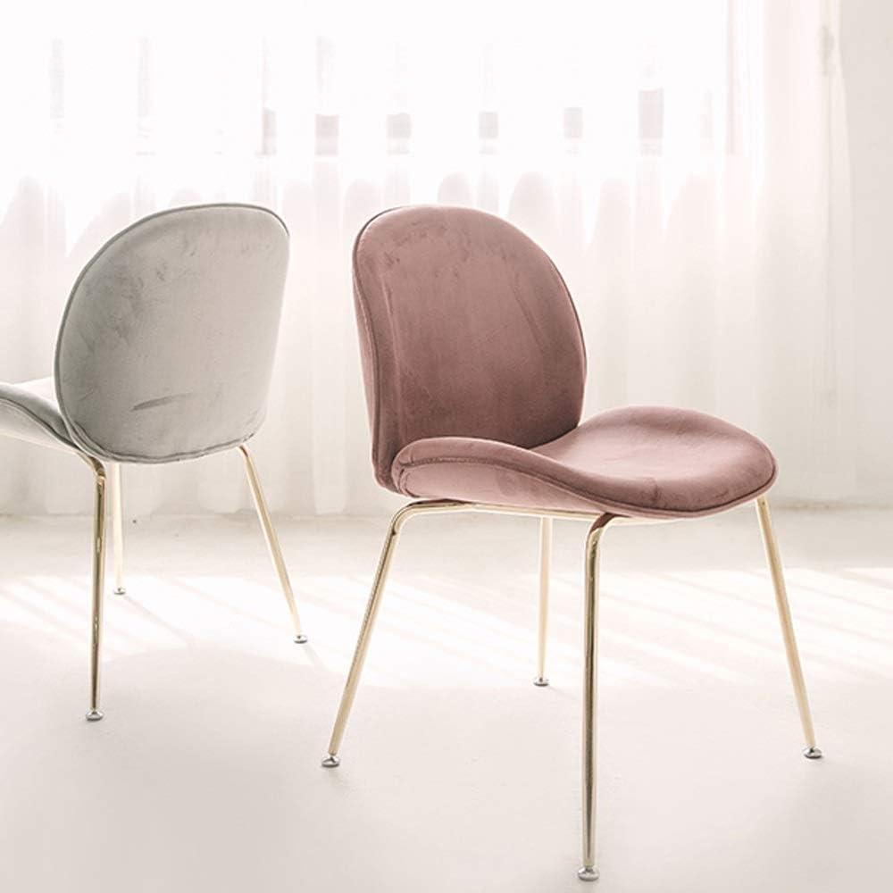THMJIE Chaise nordique à manger simple et moderne Ménage Loisirs Fauteuil IKEA Chaise Lumière Luxe Ménage Chaise Bureau Dossier Chambre Chaise de maquillage (Color : Marron) Beige