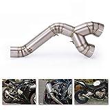 HKIASQ Tubo De Escape Modificado Tubo De Escape De Sección Media De Acero Inoxidable para Motocicleta Adecuado para BMW S1000R09-18