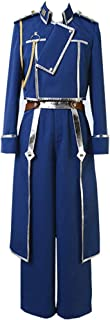 Fullmetal Alchemist Riza Hawkeye Military Blue Uniform Cosplay Costume Halloween Full Set Suit