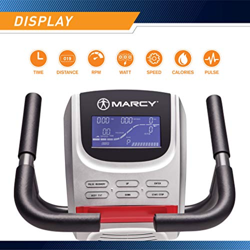 Product Image 3: Marcy Regenerating Recumbent Exercise Bike with Adjustable Seat, Pulse Monitor and Transport Wheels ME-706