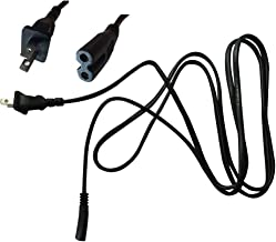 LongHULAN 2 Prong Printer Power Cord 6ft Cable for Canon PIXMA MP160 and Many Different Other Model Canon HP,Lexmark,Dell,Epson.