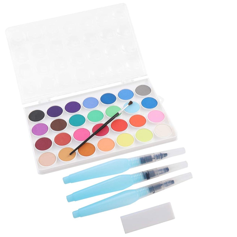 確認聡明民間人NUOBESTY 子供の芸術家の大人のためのペンの消しゴムの水彩画の用品が付いている携帯用水彩画セット水彩の顔料セット