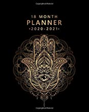 18 Month Planner 2020-2021: Golden Hand Of Hamsa Weekly Planner & Spread View Calendar - Monthly Organizer & Agenda with Motivational Quotes, To-Do's, Notes & Vision Boards (January 2020 - July 2021)