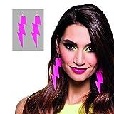 NET TOYS Boucles d'oreilles néon - Rose | Pendants d'oreilles Flash |...