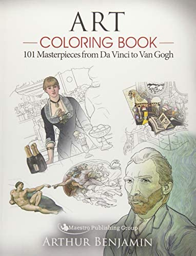 Art Coloring Book 101 Masterpieces from Da Vinci to Van Gogh product image
