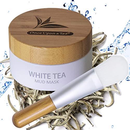 White Tea Mud Mask - 100 ml, Antioxidant Facial Treatment, Smoothes Fine Lines, Wrinkles, Deep Cleanse, Detoxifies Face, Removes Dark Spots, Skin Pigmentation, Blackheads, Pore Minimizer, Anti Aging