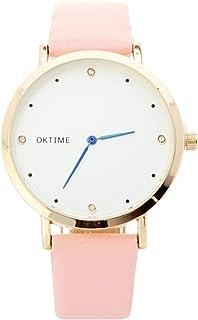 BLACK MAMUT Reloj para Mujer Análogo Minimalista con Correa de Vinipiel Modelo Keneill Color Azul y Verde (Azul)