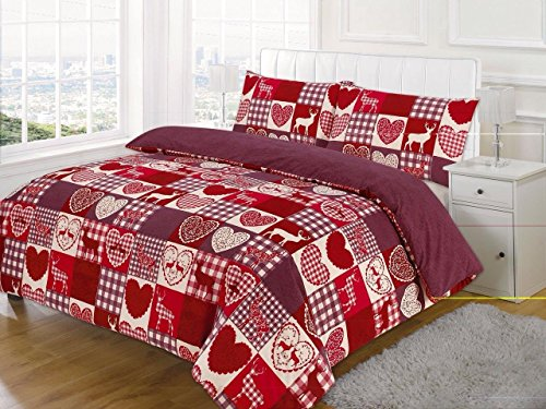 King Bed, New Christmas Patchwork Duvet / Quilt Cover Bedding Set