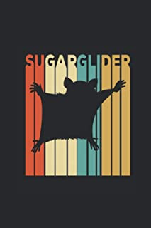 """Sugar Glider: Sugar Gliders Notebook, Dotted Bullet (6"""" x 9"""" - 120 pages) ~ Animal Themed Notebook for Daily Journal, Diar..."""