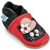 Zapatos Bebe Niña - Zapatillas Niña - Patucos Primeros Pasos - Gato con Sombrero - 12-18 Meses