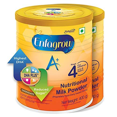 Enfagrow A+ Nutritional Milk Powder Health Drink for Children (3+ years), Chocolate 400g, Pack of 2