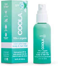 COOLA Organic Scalp & Hair Sunscreen Mist, Skin Care for Daily Protection, Broad Spectrum SPF 30, Reef Safe, Ocean Salted ...