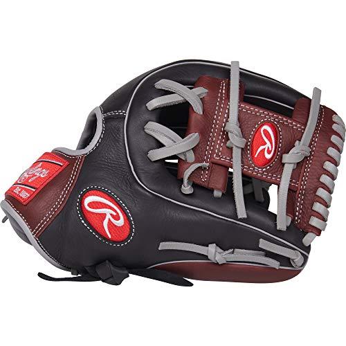Rawlings R9 Baseball Glove, Black, 11.5