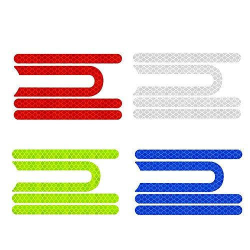 Reflektierender Aufkleber für Roller vorne und hinten, Gummi, wasserdicht, reflektierende Aufkleber, dekorative Seitenaufkleber, Styling-Set für Elektro-Scooter M365, reflektierende Aufkleber (16 Stück)
