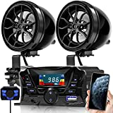 GoHawk TS3 Gen.3 Motorcycle Weatherproof Bluetooth Speakers 7/8-1.25 in. Handlebar Mount MP3 Music Player Sound Audio Stereo Amplifier System ATV UTV w/AUX, USB, Micro SD, FM Radio, 2-Speaker