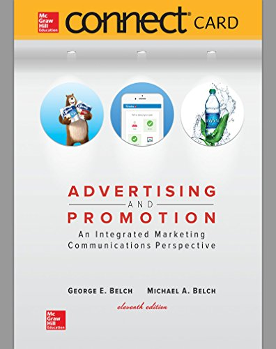 Compare Textbook Prices for Connect Access Card for Advertising and Promotion 11 Edition ISBN 9781259900235 by Belch, George E.,Belch, Michael A.