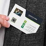 Biglietto da Visita F.to 8,5x5,5cm PERSONALIZZATO con Foto 100 pz   Personalizzato su Cartoncino 350 gr.   Stampa a Colori solo Fronte   Verde