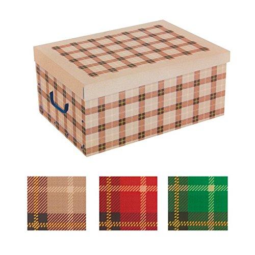 Eurowebb – Caja de cartón para almacenaje, diseño de Cuadros con Tapa y Asas – Decoration casa: Amazon.es: Electrónica