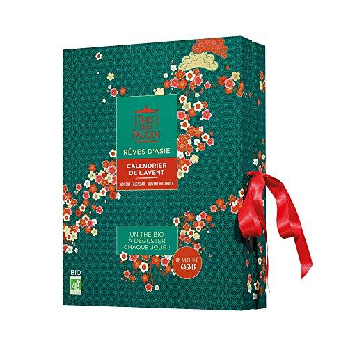Thés de la Pagode – Calendario de Adviento de té e infusiones – Espere Navidad con Gourmandise – Colección sueños de Asia – 24 infusetes
