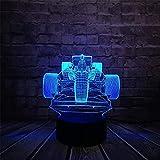 Botella de vino 3D Illusion Lamp LED Night Light, LED Night Light Touch Sensor Light 7 Efecto de color Niños Cute Night Light Lámpara de escritorio Dormitorio Regalo de Año Nuevo