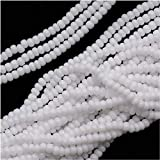 Jablonex Czech Seed Beads, Size 11/0, Snow White Opaque, 1 Hank Per 4000 Beads