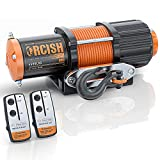 ORCISH 12V 4500LBS Electric Synthetic Rope Winch Kits for Towing ATV/UTV Off Road Trailer with Wireless Remote Control Mounting Bracket. (4500 Synthetic Rope S)