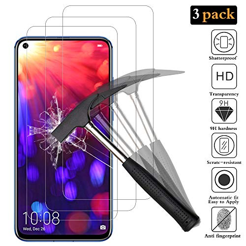 Schutzfolie Displayschutzfolie für Honor View 20/Huawei Nova 4, Honor View 20/Nova 4 Schutzfolie 9H Härte, Einfache Installation, Anti-Bläschen, Anti-Kratzen.
