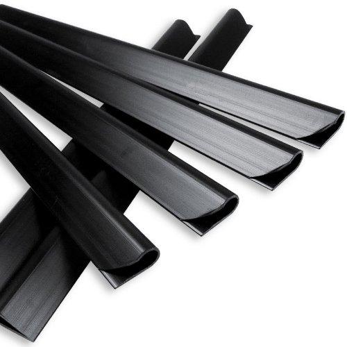NOOR Klemmschienen 19x1,5cm I Anthrazitfarbene Klemmleisten für Sichtschutzstreifen I 25er Set