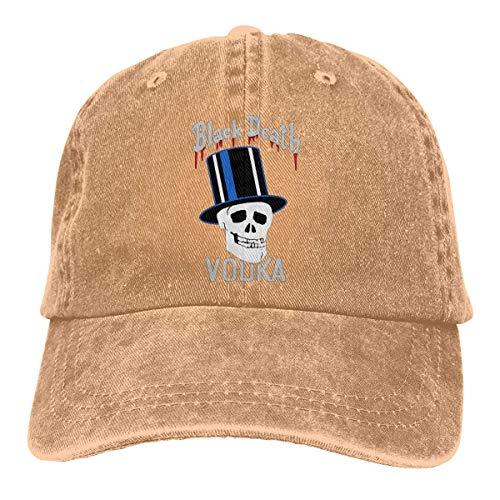 Funny Bag Black Death Vodka (Color) Muster Cowboy Art personalisierte Hysteresenhüte