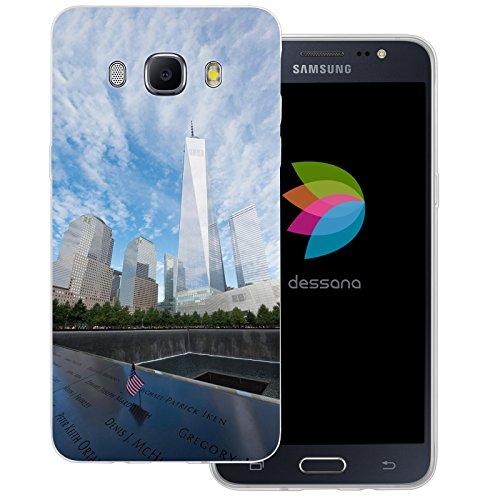 dessana New York City transparente Silikon TPU Schutzhülle dünne Handy Tasche Soft Case für Samsung Galaxy J5 (2016) One World Trade Center Memorial