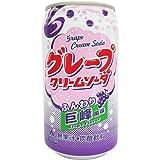神戸居留地 富永食品 グレープクリームソーダ 缶(350mL*24本入)
