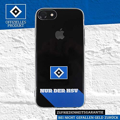 Hamburger SV HSV Schutzhülle - Nur der HSV 2019 - Smartphone Case passend für das Neue Apple iPhone SE und iPhone 8/7