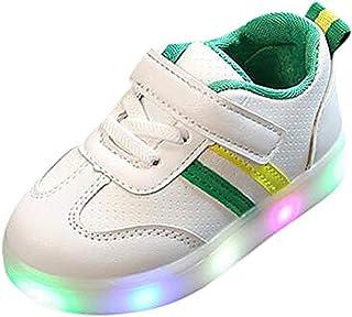 comprar comparacion Riou Zapatos LED Niños Niñas Zapatillas Deportivas Unisex Calzado Rayas Antideslizante Bebe Chicos Chicas Zapatos Calzado ...