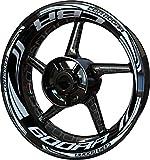 Motocicleta Moto Llanta Inner Rim Tape Decal Pegatinas F2 para Honda CBR 600 RR CBR600RR 600RR (Blanco 2)