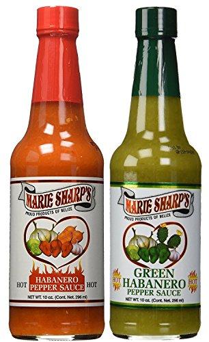 Marie Sharp's HOT and Green Habanero Pepper Sauce 10oz