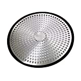 PlumBoss E1030 Shower Hair Catcher Strainer Stall Drain Protector Stainless Steel & Silicone Bathtub Cover, Brushed Nickle
