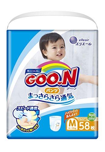 GOO.N Baby Windelhöschen Unisex Gr. M (7-12 kg) 58 Stück Premium Qualität Made in Japan