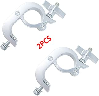 Heavy Duty Stage Lighting Clamps Aluminum 200kg 440lb Truss Hook Clamp for DJ Spot Lighting Fit Pipe Diameter: 50-55mm (2 Pack)