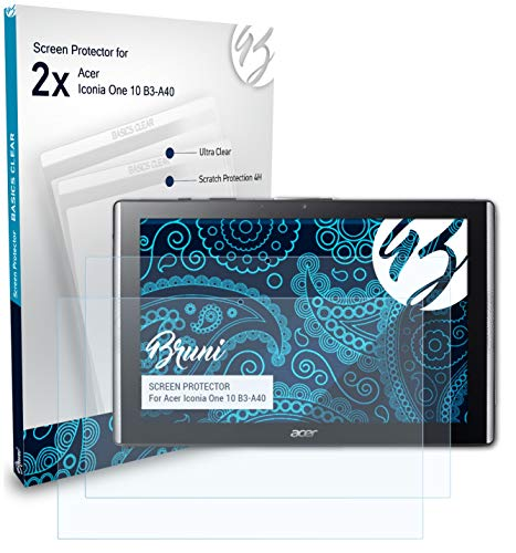 Bruni Screen Protector for Acer Iconia One 10 B3-A40 Protector Film, crystal clear Protective Film (2X)