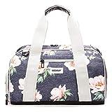 Vooray Burner, Small Duffel Bag, Gym Bag with Shoe Pocket, 16' (Rose Navy)