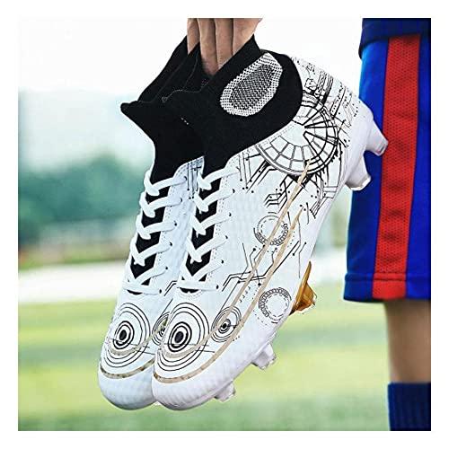 YXIAOL Botas de fútbol Hombre Césped competición para Adultos Calzado Deportivo Calzado Entrenamiento Zapatillas fútbol Sala/Exterior Unisex Adulto VIIPOO,#02-44