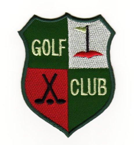 Aufnäher Bügelbild Aufbügler Iron on Patches Applikation Abzeichen Golf Sport Club Schläger Wappen