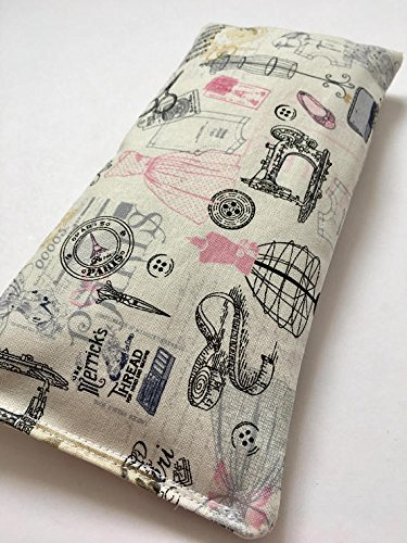 Vintage Print Eye Pillow, Sleep Mask, Mothers Day Aromatherapy Gift, Lavender Eye Pillow, Yoga Eye Bag, Meditation Eye Pillow, Best Friend Gift
