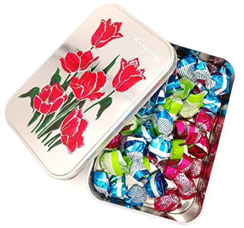 Lata Decorativa Flores 'Rosas' Surtido Bombones 300 g