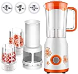 Water cup - Exprimidor de cítricos eléctrico para batir Smoothie Blender 22000 Tr / Min, mezclador multifunción con 2 tazas, batidora juicer, Ice Crusher Spice Grinder 300 W, naranja verde (color: O
