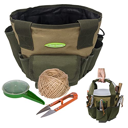 Garden Tool Bag – Make Gardening Easy – Carry All Your Garden Tools and Suppliers – Perfect Garden Tote and Bucket Organizer for Passionate Gardeners