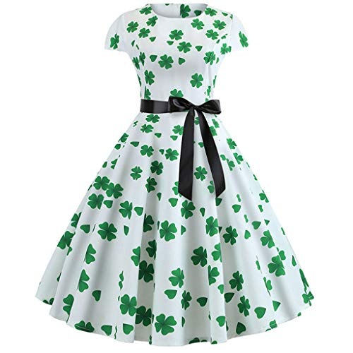 Great Price! Xinantime Womens Dresses St. Patrick's Day Ladies Girls Shamrock Evening Print Party Pr...