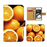 AQUOS sense4 lite SH-RM15 ケース 手帳型 カラフル 手帳ケース スマホケース カバー フルーツ 果物 オレンジ みかん E0004040115501